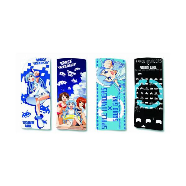It is all four kinds of cuttlefish daughter X space invader invader collaboration sports towel sets Taito prize aggression