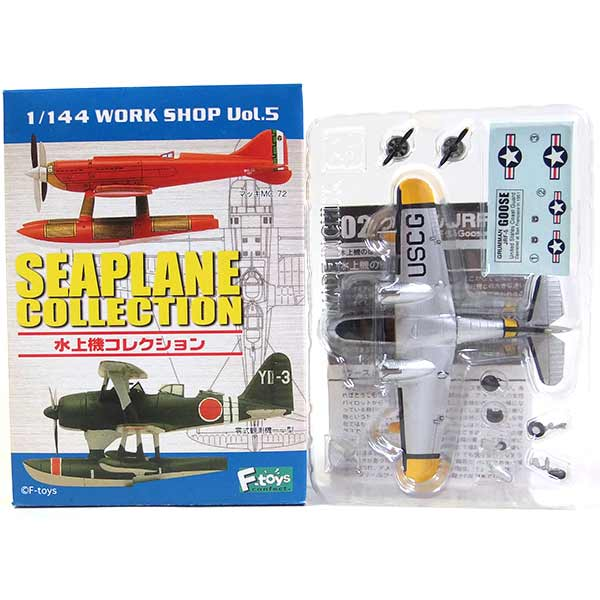 The F-toys 1/144 seaplane collection Vol.1 goose Grumman JRF-5 goose U.S.A. Coast Guard one piece of article finished product fighter miniature military