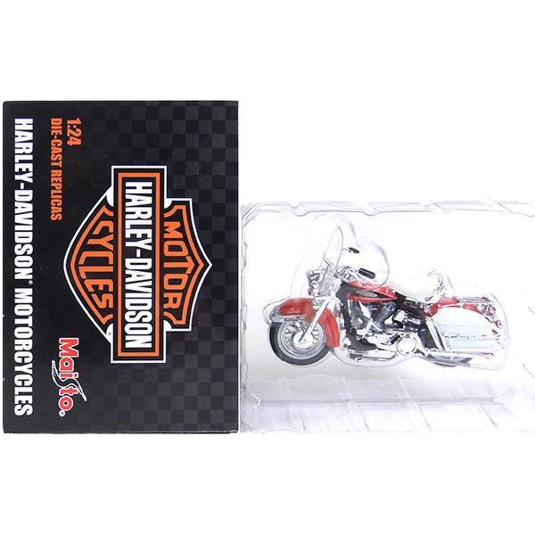 【ザッカPAP 1/24 ハーレーダビットソン モーターサイクル Part.1】  【9】 ザッカPAP 1/24 ハーレーダビットソン モーターサイクル Part.1 1968 FLH エレクトグライド (オレンジ) 単車 ネイキッド アメリカンバイク 半完成品 単品