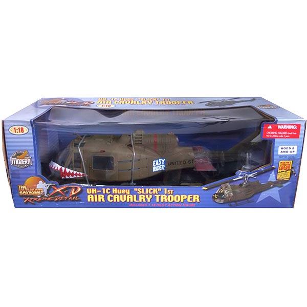【1149】 21st Century Toys 1/18 ベル UH1C ヒューイ イロコイ シャークノーズ アメリカ軍 海兵隊 ミニチュア フィギュア 半完成品 単品
