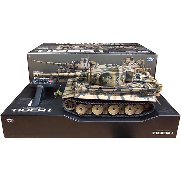 【0069/BAND-1】 東京マルイ 1/24 RCバトルタンク タイガーI (迷彩仕様) ドイツ軍 ラジコン 戦車 模型 ミニチュア 完成品 単品