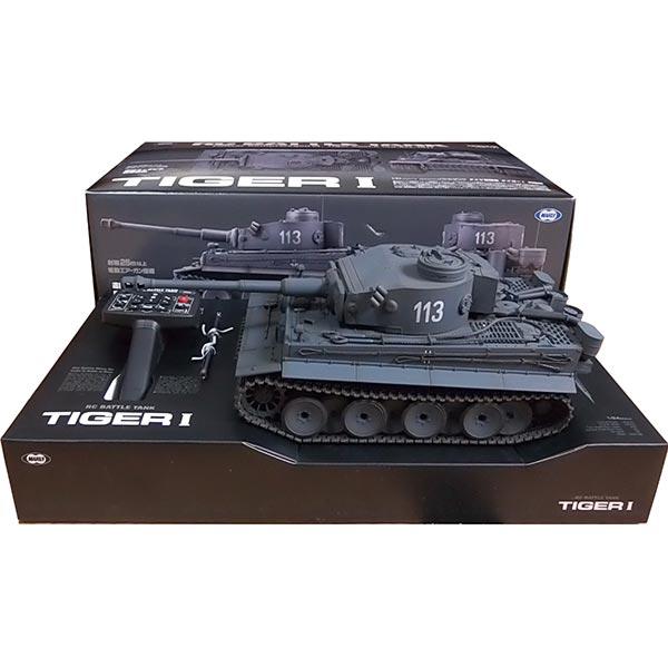 【0052/BAND-1】 東京マルイ 1/24 RCバトルタンク タイガーI (ジャーマングレー) ドイツ軍 ラジコン 戦車 模型 ミニチュア 完成品 単品