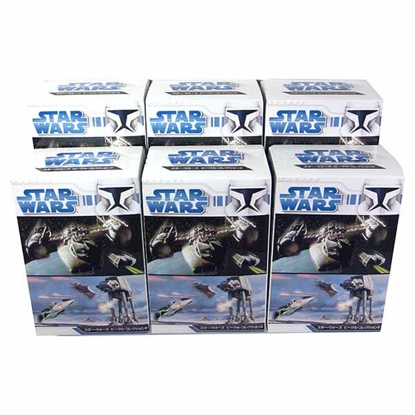 【6SET】 エフトイズ 1/144 スターウォーズ ビークルコレクション Vol.2 シークレット含む全6種セット STAR WARS SF ミニチュア 映画 BOXフィギュア 半完成品 単品