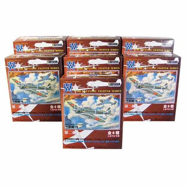 【7SET】 童友社 1/100 翼コレクション 第2弾 シークレットを含む全7種セット 戦闘機 ミニチュア 半完成品 プラスチックキット プラモ BOXフィギュア 単品
