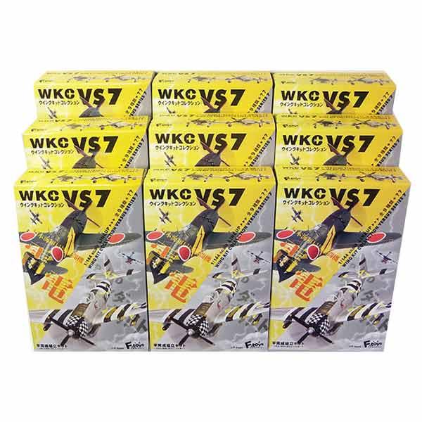 【9SET】 エフトイズ 1/144 ウイングキットコレクション VS7 全9種セット(シークレットを含まない) 戦闘機 ミニチュア 半完成品 ミリタリー 食玩 単品