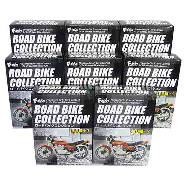 【8SET】 エフトイズ F-TOYS 1/24 ロードバイクコレクション 全8種セット(シークレットを含まない) ミニチュア 単車 ネイキッド ヴィンテージ 半完成品 単品