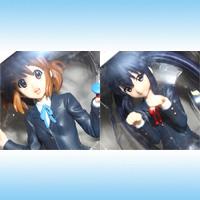 けいおん! K-ON! プレミアムフィギュアVer.1.51 アニメ 音楽 ギター プライズ セガ(全2種フルセット+ポスターおまけ付き)【即納】【05P03Dec16】