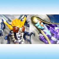 真・女神転生 リアルフィギュア3 ゲーム キャラクター 模型 プライズ フリュー(ベルゼブブ&ロキの全2種フルセット+ポスターおまけ付き)【即納】【05P03Dec16】
