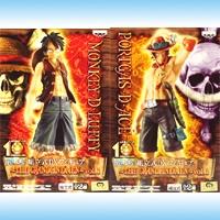 ワンピース 組立式DXフィギュア THE GRANDLINE MEN vol.1 ONE PIECE 尾田栄一郎 プライズ バンプレスト(全2種フルセット)【即納】【05P03Dec16】