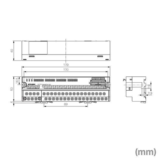 CC-Link 소형 타입 리모트 I/O유닛(입력 32점) (프라스코몬, 마이너스 코먼 공용 타입) NN