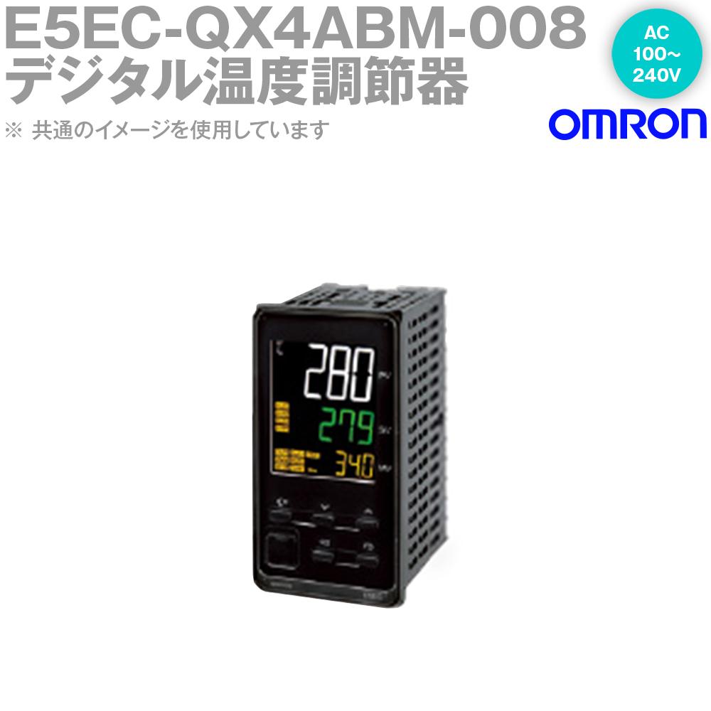 オムロン (OMRON) E5EC-QX4ABM-008 温度調節器 AC100-240V プッシュインPlus端子台タイプ E5EC-Bシリーズ NN