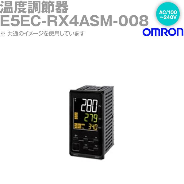 オムロン (OMRON) E5EC-RX4ASM-008 温度調節器 AC100-240V ねじ端子台タイプ E5ECシリーズ NN