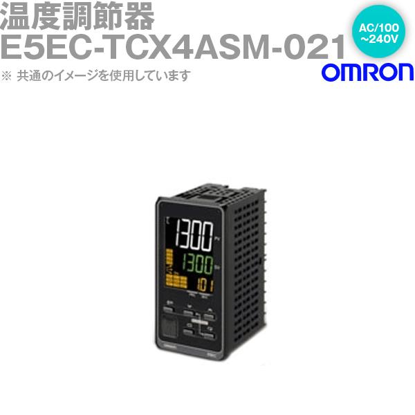 オムロン (OMRON) E5EC-TCX4ASM-021 温度調節器 DIN48×96 端子台タイプ リニア電流出力 AC100~240V NN