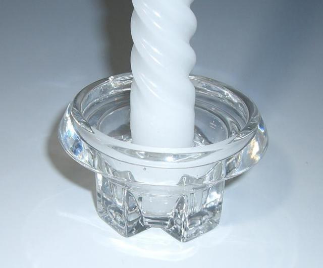 シャイニーキャンドル スティック を立てるのに最適 ガラス製キャンドルスタンド お買い得品 結婚式 ☆送料無料☆ 当日発送可能 披露宴等でキャンドルを立てる時に使用 リング