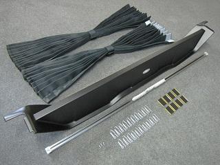 エスクァイア(ESQUIRE)80系 間仕切りカーテンフルキット 車中泊にマウント色ブラック