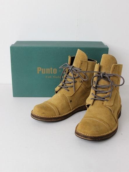 PUNTO PIGRO プントピグロ スエードレースアップブーツ35【靴】【LUXE】【シューズ】【ショート】【フラット】*高価買取中*【中古】【古着】