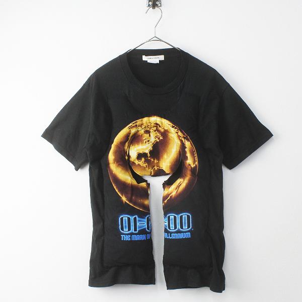 COMME des GARCONS コムデギャルソン 一点物 GB-T501 2018AW 中綿入り ヴィンテージ Tシャツ/ブラック 黒 クロ トップス【2400011418982】【中古】*高価買取中*