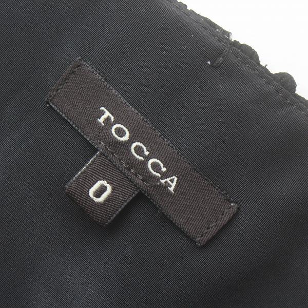 TOCCA トッカ フラワー刺繍 ノースリーブ ワンピース 0 黒 ブラック ドレス 膝丈 フリル 2400011732651高価買取中0w8nOvNm