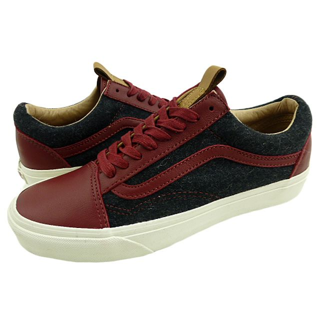 1fd9f79411 Brand new overseas model VANS OLD SKOOL CA   leather   wool   red   black    vans   old school   CA