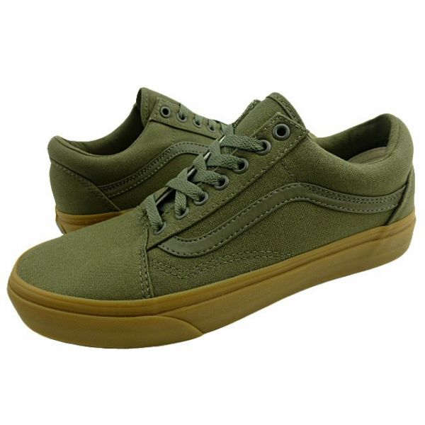 New overseas model VANSOLD SKOOL canvas gum sole ivy green