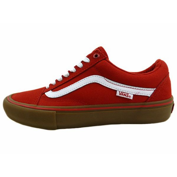 Brand new overseas model VANSOLD SKOOL PRO gum sole and Red vans