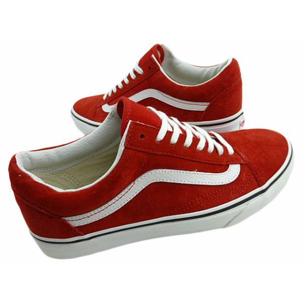 vans red old skool