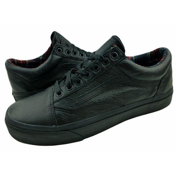 vans leather school shoes