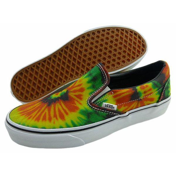 New overseas model VANS/SLIP-ON/ tie-dyeing / vans / slip-ons / hippie