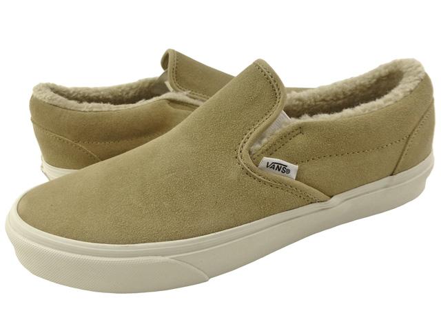 auc-trickortreat  New overseas model VANS SLIP-ON  fleece   khaki ... b39068e11