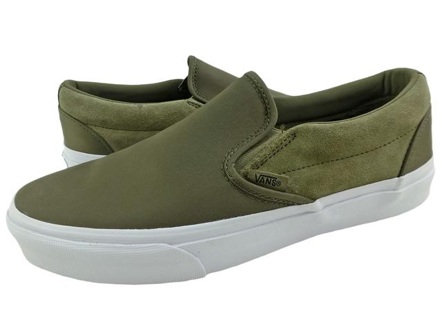 9ffd27c344 New overseas model VANS SLIP-ON surplus nylon Dusky Green/ vans slip-ons