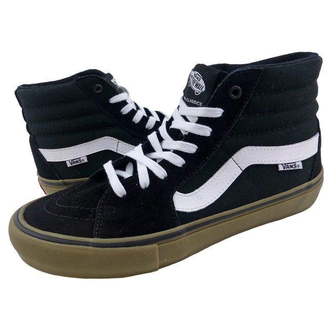 New overseas model VANS/SK8-HI PRO/ black / white / gum sole / vans /  skating high / pro