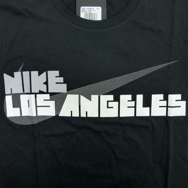 48957bad auc-trickortreat: New /US-limited /NIKE/Block Letter L.A. City Tee ...