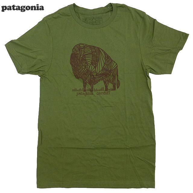新品/Patagonia/Here First/Tシャツ/ジェフ・マクフェトリッジ/Fatigue Green/カーディフ限定パタゴニア/【あす楽対応_関東_甲信越_北陸_東海_近畿_中国_四国】【ゆうパケット対応】