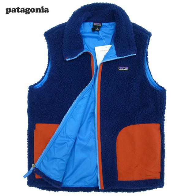 Patagonia KIDS Retro Vest/紺/赤/パタゴニア/キッズレトロベスト(65619)フリース【あす楽対応_関東_甲信越_北陸_東海_近畿_中国_四国】