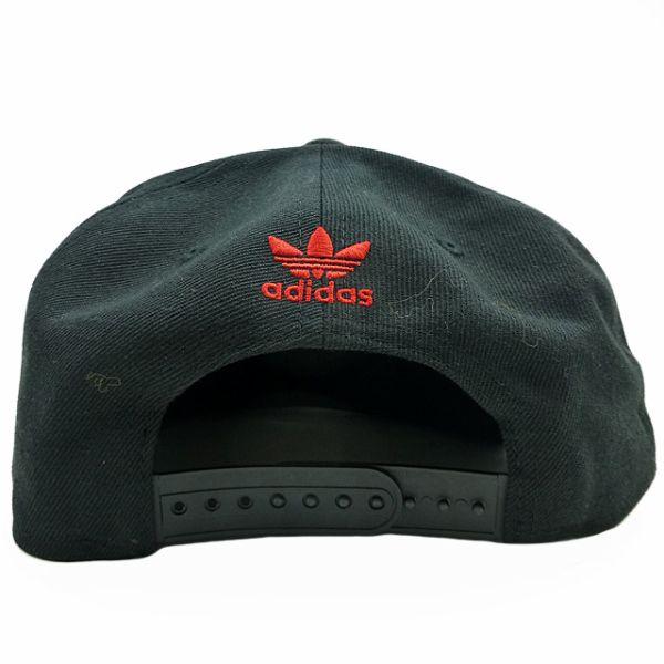 22d29fc03ca8d adidas originals baseball hat trefoil cap new chain black red classic .