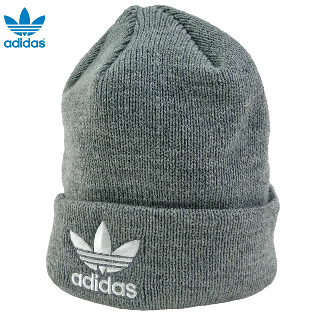 ebcb62e800e00 auc-trickortreat  New  adidas ORIGINALS Trefoil Beanie  knit hat   gray    Adidas   originals