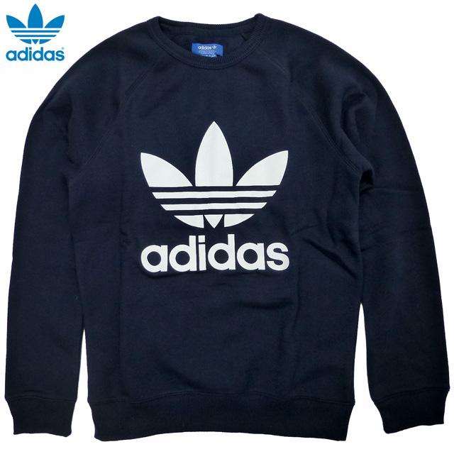 New  adidas ORIGINALS Trefoil Crew  sweat shirt   dark blue   Adidas    originals 942e669887c
