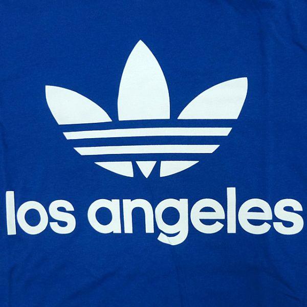신품/adidas ORIGINALS/트레이닝 포일/Los Angels/LA한정/T셔츠/파랑/아디다스/오리지나르스/