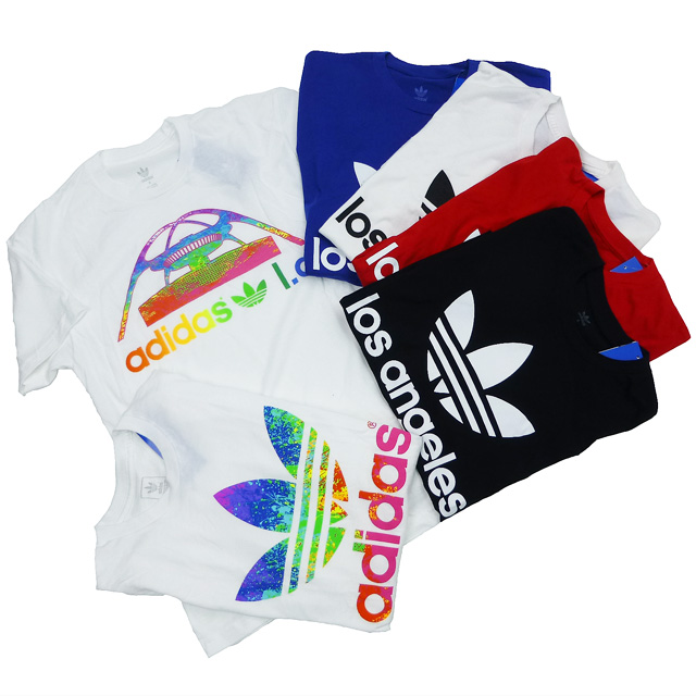 Brand new /adidas YORIGINALS / trefoil /lyos Angels/LA limited/t shirt / blue / adidas / originals /