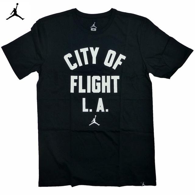 新品 Jordan City Of Flight L.A.Tee/ジョーダン ロサンゼルスジャンプマン 黒 【あす楽対応_関東_甲信越_北陸_東海_近畿_中国_四国】【ゆうパケット対応】