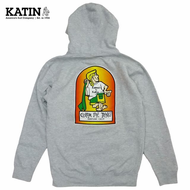 新品/海外限定/KATIN/K-Man/Full Zip Sweat Hoodie/グレー/ケイティン/ジップパーカー【あす楽対応_関東_甲信越_北陸_東海_近畿_中国_四国】【ゆうパケット対応】