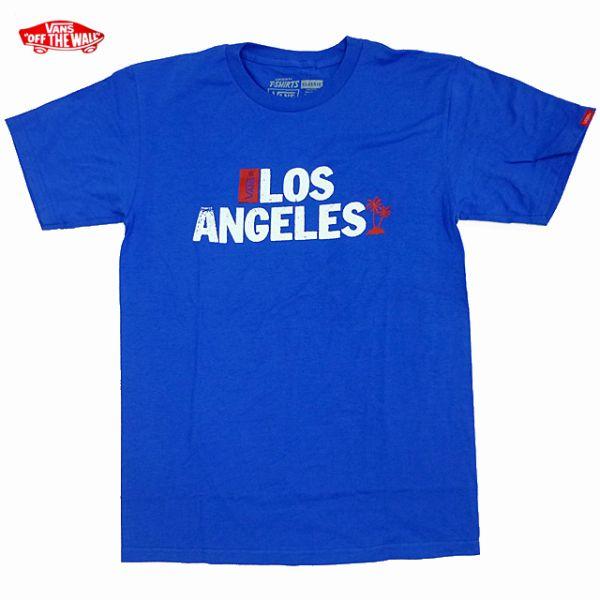 10a28b99 Brand new VANS //LA limited /Los Angeles / print / blue/t shirt / vans /
