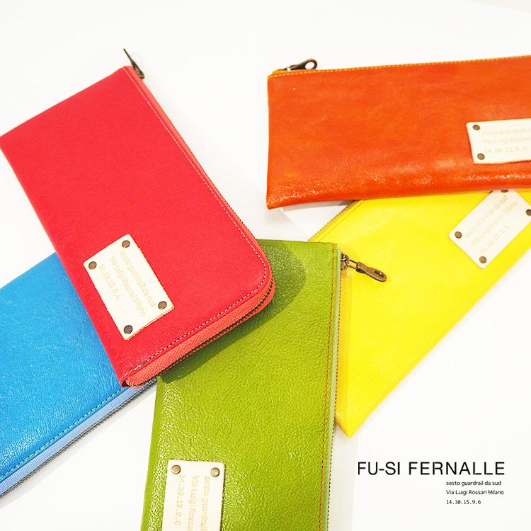 フーシフェルナーレ FU-SI FERNALLE ヤギ革 L字ファスナー式薄型 長財布 ロングウォレット 21584