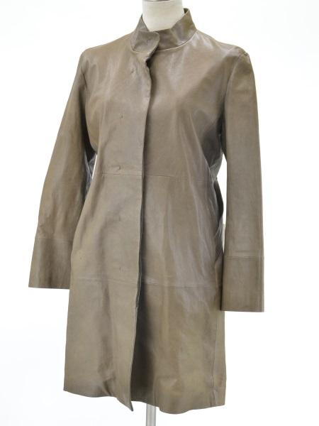 デプレ DES PRES トゥモローランド 羊革レザー コート 1サイズ ブラウン レディース F-L2388【中古】【ブランド買取販売トリヴァンドラム】180904