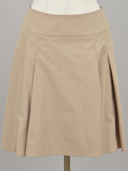 フォクシーニューヨーク FOXEY NEW YORK out pleat アウトプリーツ スカート 40サイズ ベージュ レディース F-L3905【中古:美品】【ブランド買取販売トリヴァンドラム】181000