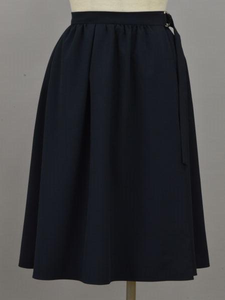 ルネ Rene ラップスカート 34サイズ ネイビー レディース F-L6039【中古:美品】【ブランド買取販売トリヴァンドラム】181002