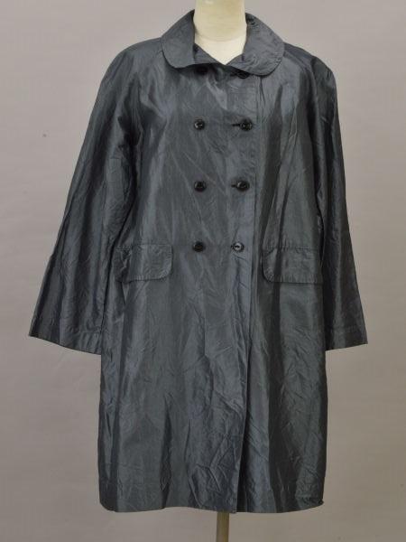 ドーサ dosa sanyo coat シルク ロングコート 2サイズ チャコールグレー レディース F-L6342【中古:美品】【ブランド買取販売トリヴァンドラム】181004