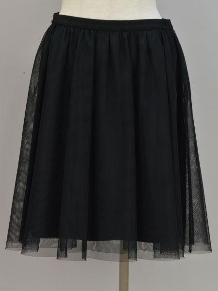アマカ 至高 AMACA ポリエステル チュール ブレード スカート 38サイズ 中古:美品 大幅にプライスダウン ブラック レディース F-M10600 ブランド買取販売トリヴァンドラム 181009