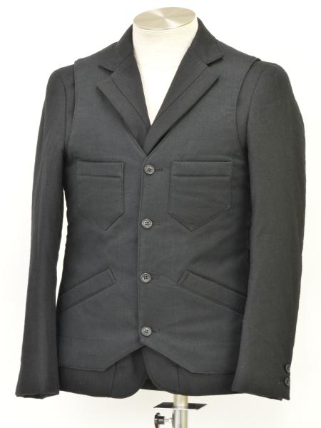 カミエラ CAMIERA ベスト付 テーラードジャケット 48サイズ ブラック メンズ F-L2143【中古:美品】【ブランド買取販売トリヴァンドラム】181208