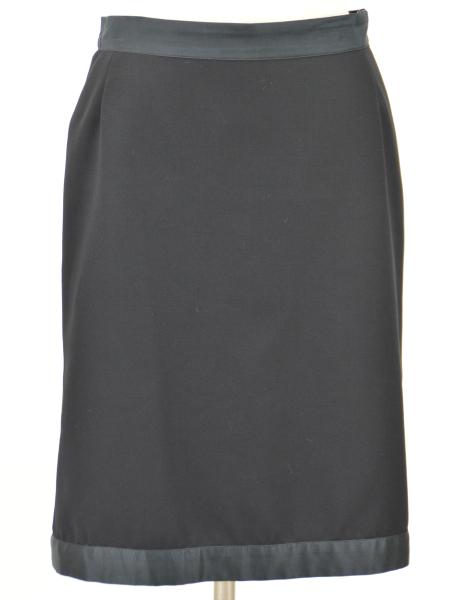 ヴィクターアンドロルフ VIKTOR & ROLF ウール スカート 38サイズ ブラック イタリア製 レディース F-M8166【中古:良品】【ブランド買取販売トリヴァンドラム】190306